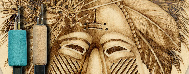 Ceremonial Mask Pyrography Project