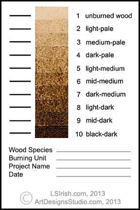 Creating A Tonal Value Sepia Scale Worksheet For Pyrography And Wood