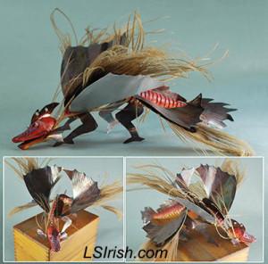 Dragon Fish Wood Carving