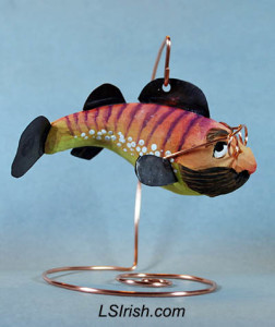 wood spirit fish decoy
