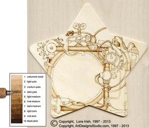 free Lora Irish pyrography project
