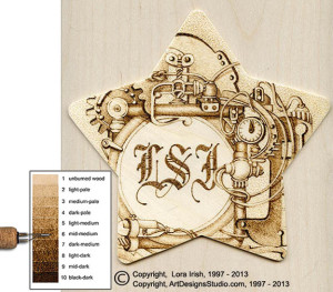 free pyrography project by Lora Irish