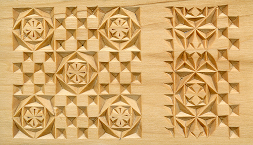 Chip carving a game and chess board pattern by lora irish