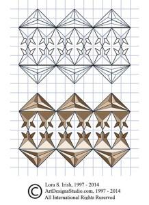 free Irish chip carving pattern