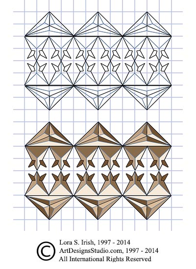 Irresistible image in printable chip carving patterns