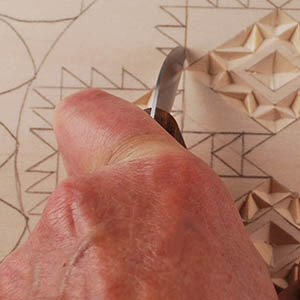 straight-wall chip carving cut