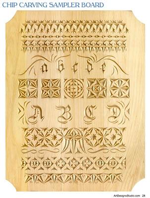 Chip Carving Free Sampler Pattern By Lora Irish Lsirish Com