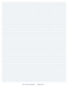 one quarter inch chip carving graph paper