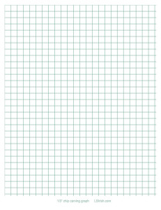 one third inch chip carving graph paper