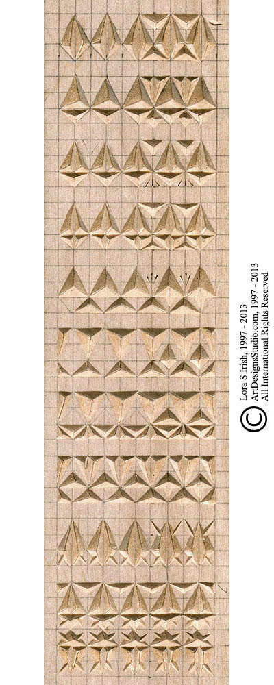 Chip carving free sampler pattern by lora irish lsirish