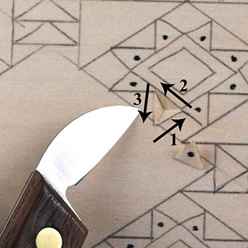 Chip Carving, Cutting Triangle and Square Chips in Chip Carving ...
