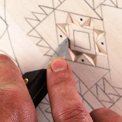 cutting adjacent chips in chip carving