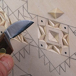 cutting square chips in chip carving