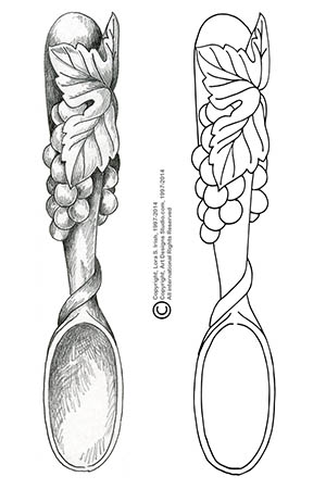 free Welsh Love Spoon pattern