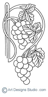 grape carving patterns by Lora Irish