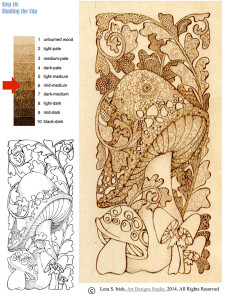 Pyrography Doodle Mushroom Project Steo 10