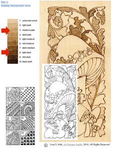 Mushroom Pyrography Doodles