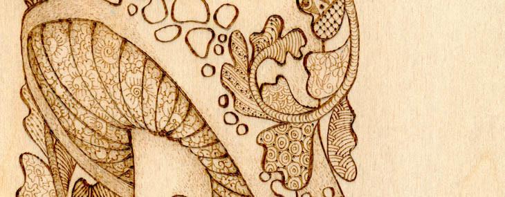 Pyrography Doodles #4