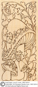 Mushroom Doodles Pyrography Project