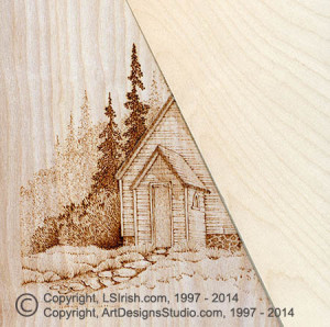 Country Church wood burning project