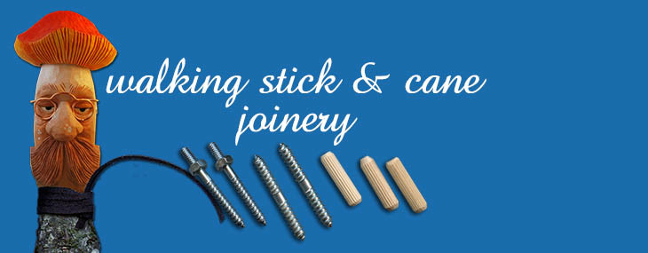 Walking Stick and Cane Handle Joinery
