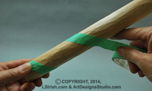 carving a  walking stick snake