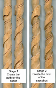 Free Lora Irish cane carving project