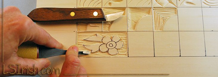 Wood Carving A Simple Flower